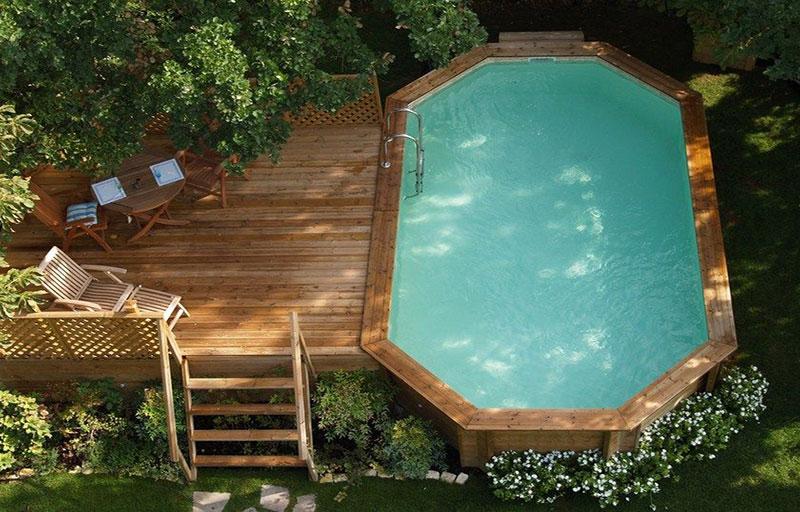 Smeraldo piscina in legno