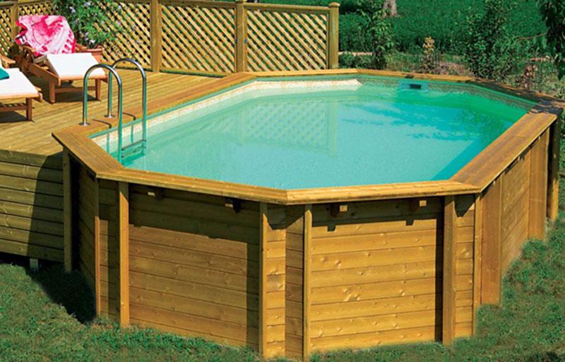 Ambra piscina in legno